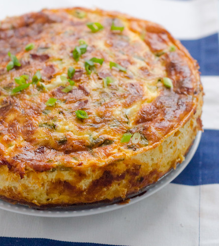 Bacon-Cheddar Quiche with a Grits Crust