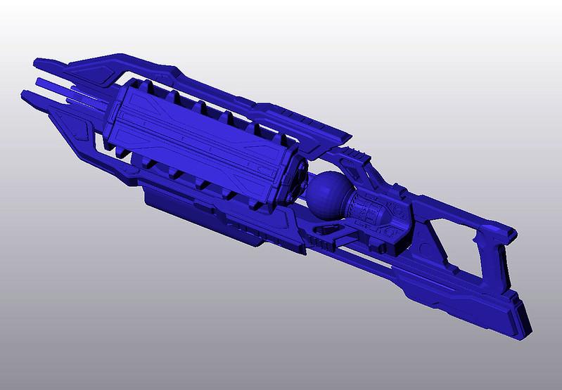Lightning Gun digital model