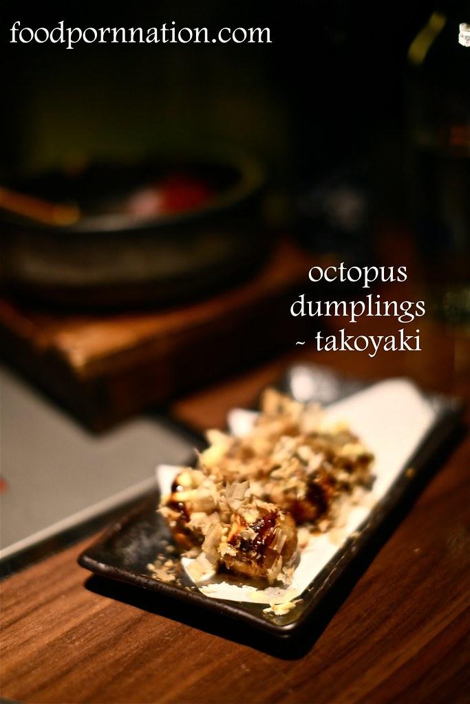 octopus dumplings, takoyaki - Kintan, Holborn