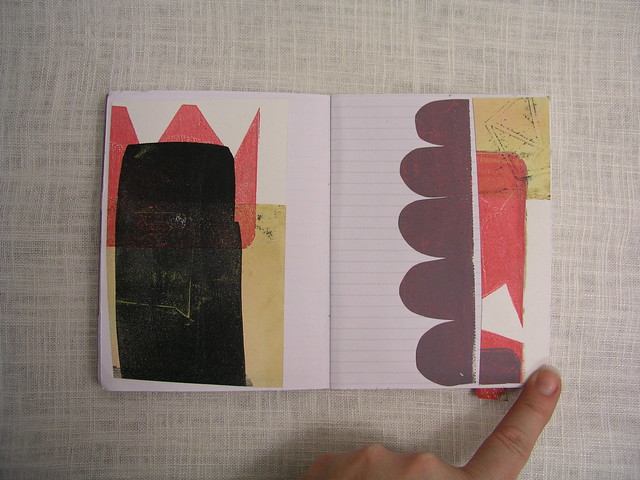 LittleArtBook collage gelliprints