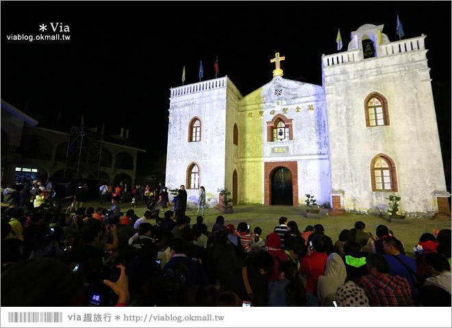 【萬金教堂】屏東萬金教堂聖誕季~3D光雕秀+耶誕地景藝術/全台最濃耶味小鎮!5
