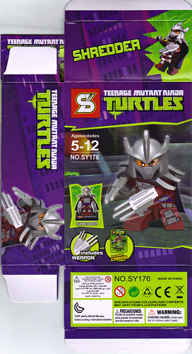 "Sheng Yuan TEENAGE MUTANT NINJA TURTLES :: ""SHREDDER"" Bootleg Minifigure Set / ..box ii (( 2014 ))"