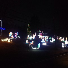 We had to drive by the #crazy #christmas #light house on the way home last night. I think the display covers three houses