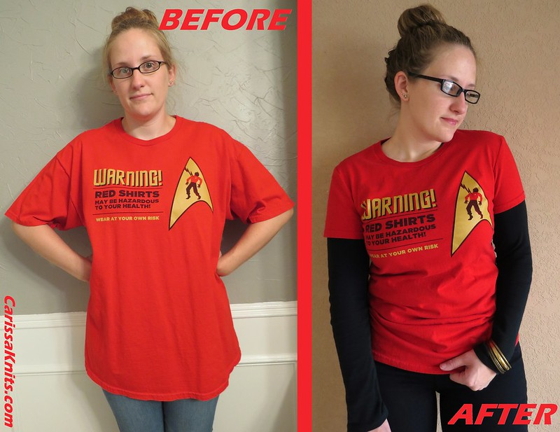 Star Trek Tee - Before & After
