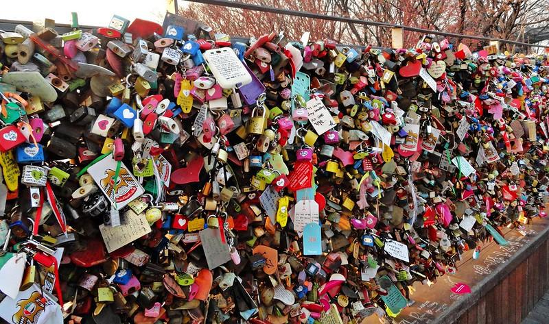 Love locks at Namsan Tower, Seoul