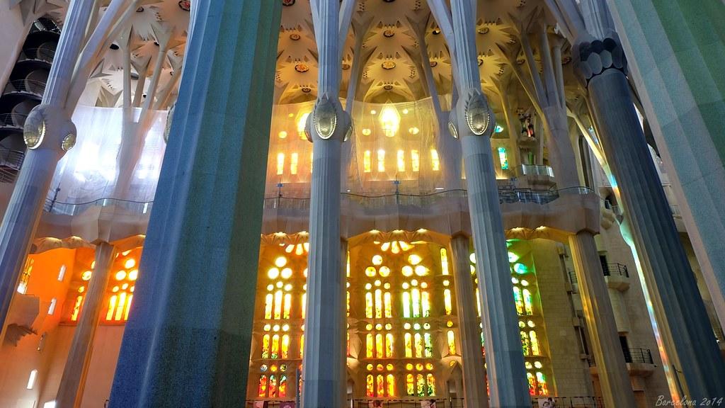 Barcelona day_2, Basílica i Temple Expiatori de la Sagrada Família, inside