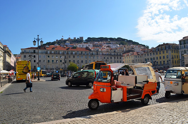Tuk Tuk Tours, Lisbon, Portugal