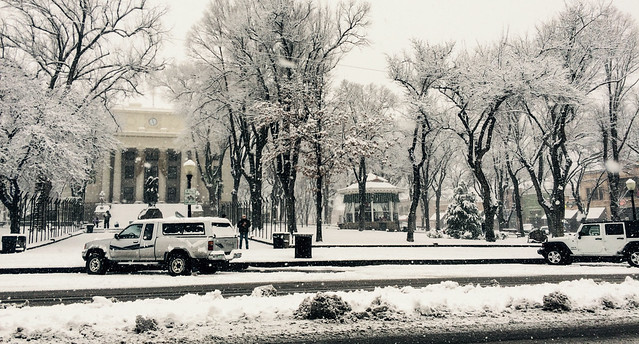 Courthouse in Snow