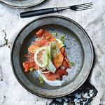 Cured Salmon with Fennel and Carrot Salad Recipe