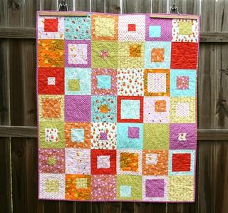 Tango Baby Quilt - in Briar Rose fabrics