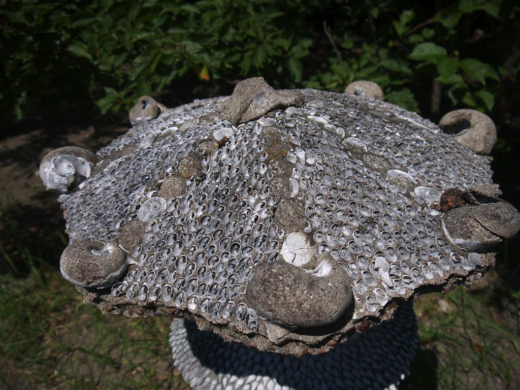 灯籠らしきものも貝殻で覆われている