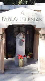 Pablo Iglesias 의 이미지. madrid de la almudena cementerio laalmudena pabloiglesias