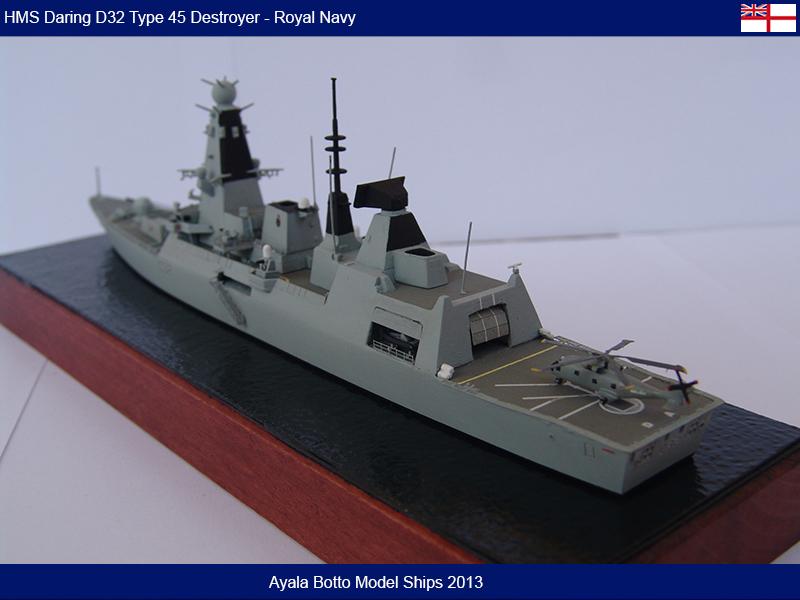 HMS Daring D32 Type 45 Destroyer Royal Navy - Cyber Hobby 1/700 16467946177_b324800084_c
