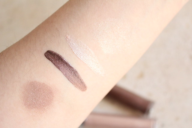 Armani Eye Tints senso and gold ashes swatches