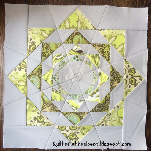 Esme Restyled block with Tula Pink Saltwater