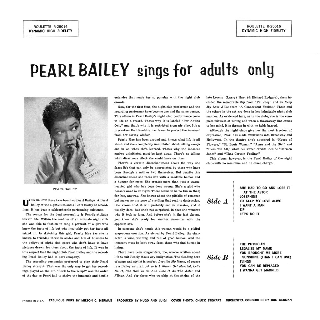 Pearl Bailey Sings For Adults Only 25