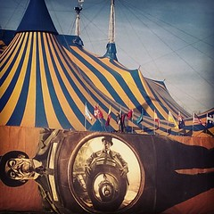 Passed by the tent yesterday. Felt a bit like The Night Circus. I could almost smell the sweets and hear the sounds. Hoping to see Kurios: Cabinet des Curiosite presented by Cirque du Soleil at Marymoor Park through March 22nd.