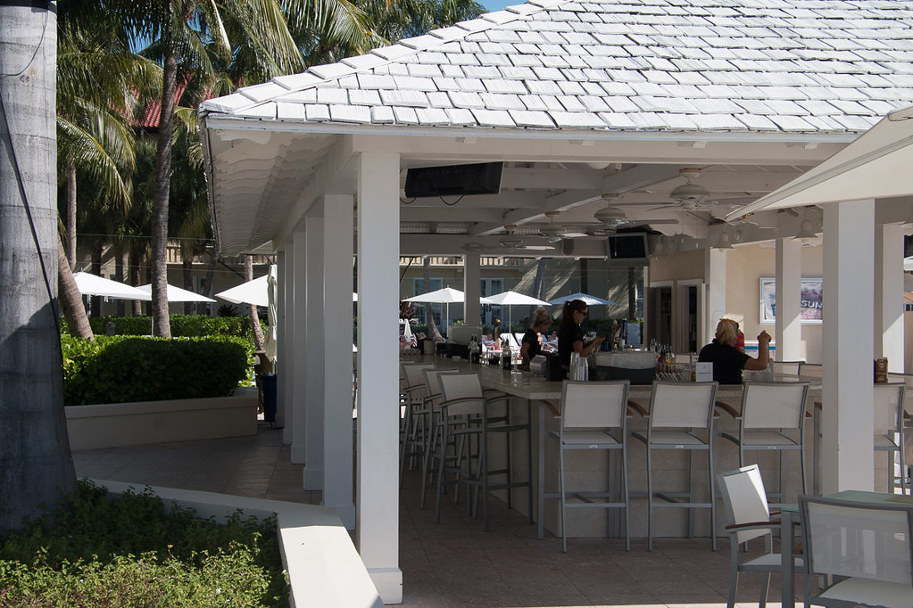 Outdoor bar at Casa Marina Key West