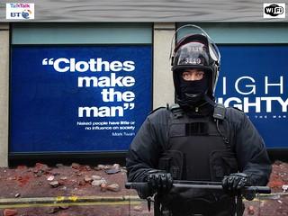 PSNI riot police
