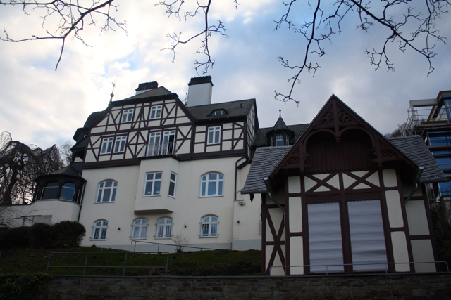 A huge old house on the river Rhine, Bonn