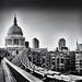 Millenium Bridge and St Pauls Cathedral by pj_warlock