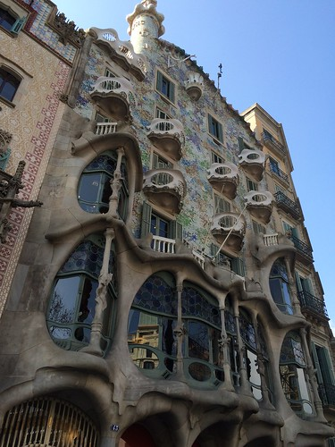 西班牙 巴塞隆納 巴特由之家 Casa Batllo Barcelona Spain