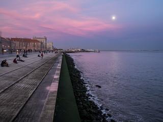 Moonrise in Lisbon