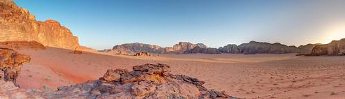 panorama sunrise landscape desert wadirum peaceful jordan silence hdr nodalninja