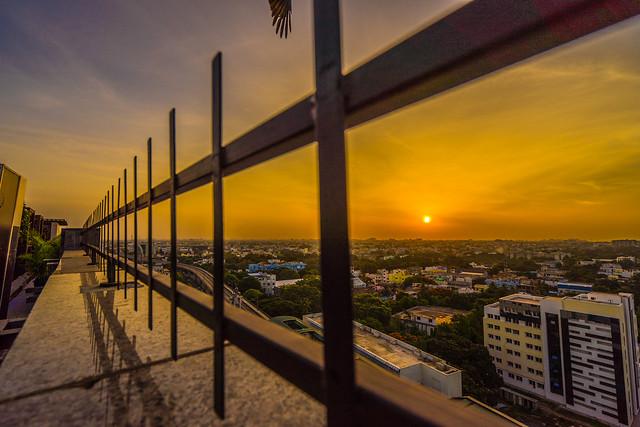 Sunrise in Chennai, India