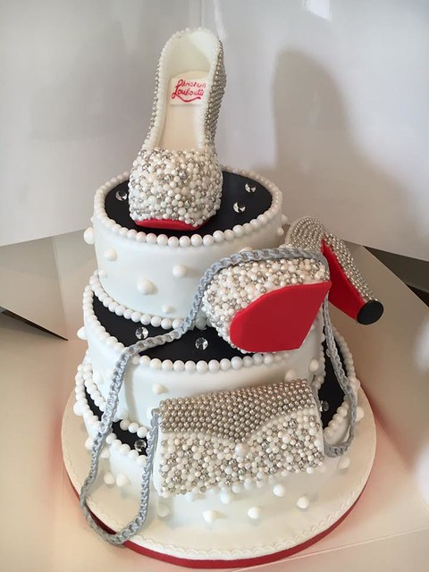 Red Bottom Shoe Cake by Rachael Smith