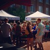 First Frederick Wine Festival today is hot and muggy but a lot of people have braved the heat to try Maryland wines #marylandwine #iheartcarrollcreek #downtownfrederick #celebratefrederick #carrollcreekpark #marylandsummer #carrollcreeklinearpark #frederi
