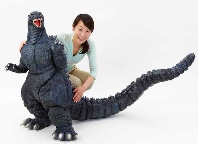 全長超過1公尺的傳說商品復活!哥吉拉 1989 1/80比例 軟膠模型 ゴジラ