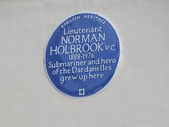 Photo of Norman Holbrook blue plaque