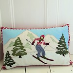 Alpine Skier Cushion Cover
