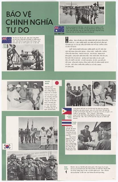 1964 Poster: BẢO VỆ CHÍNH NGHĨA TỰ DO - Safe Guarding the Cause of Freedom (25-10-1964)