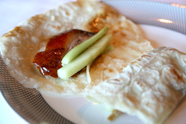 The Peking duck house made wrapper is deliciously chewy and soft
