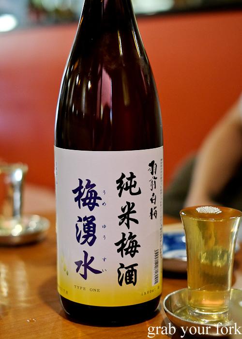 Plum sake at Nom, Darlinghurst
