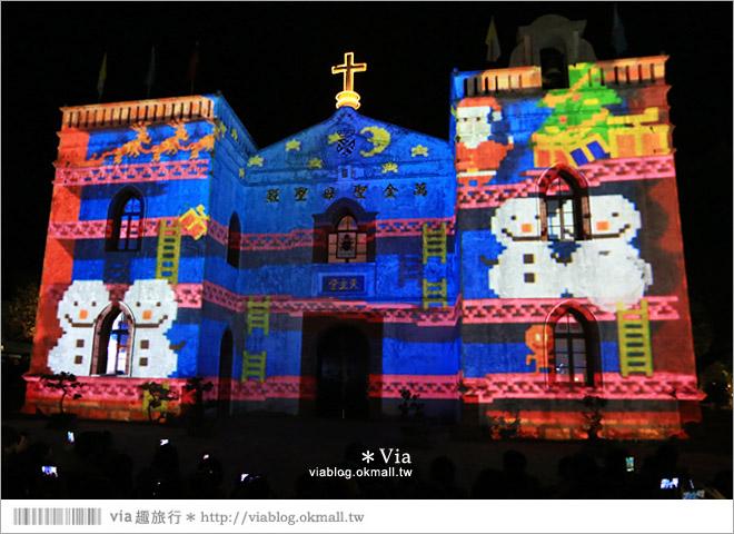 【萬金教堂】屏東萬金教堂聖誕季~3D光雕秀+耶誕地景藝術/全台最濃耶味小鎮!18