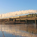 5043 racing over Wichnor viaduct by Andrew Edkins