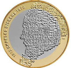 Charles Dickens two pound coin