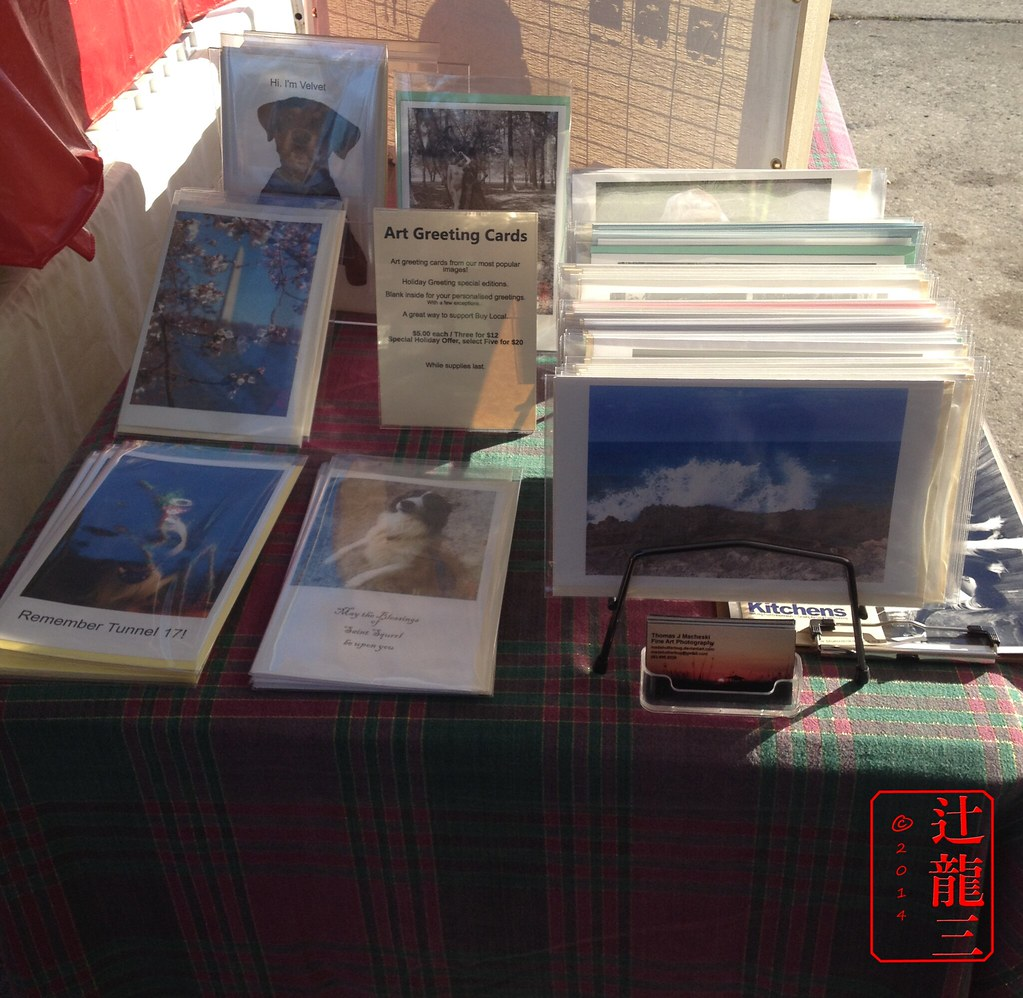 Art Greeting Cards Displayed
