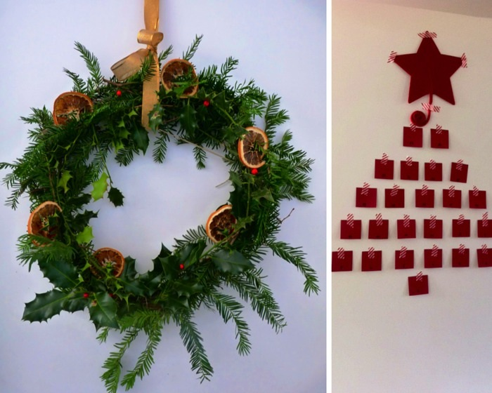 Ravacholle Lifestyle Blog | Wreath and Advent Calendar Christmas tree decorations 2014