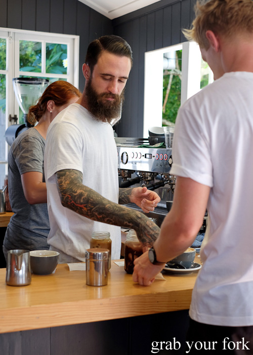 Barista at Paddock Bakery, Burleigh Heads, Gold Coast