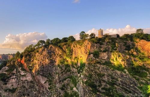 uk england tower bristol rocks britain somerset cliffs observatory gorge avon clifton cliftonsuspensionbridge