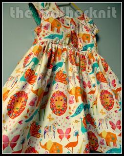 Savannah pleated party dress