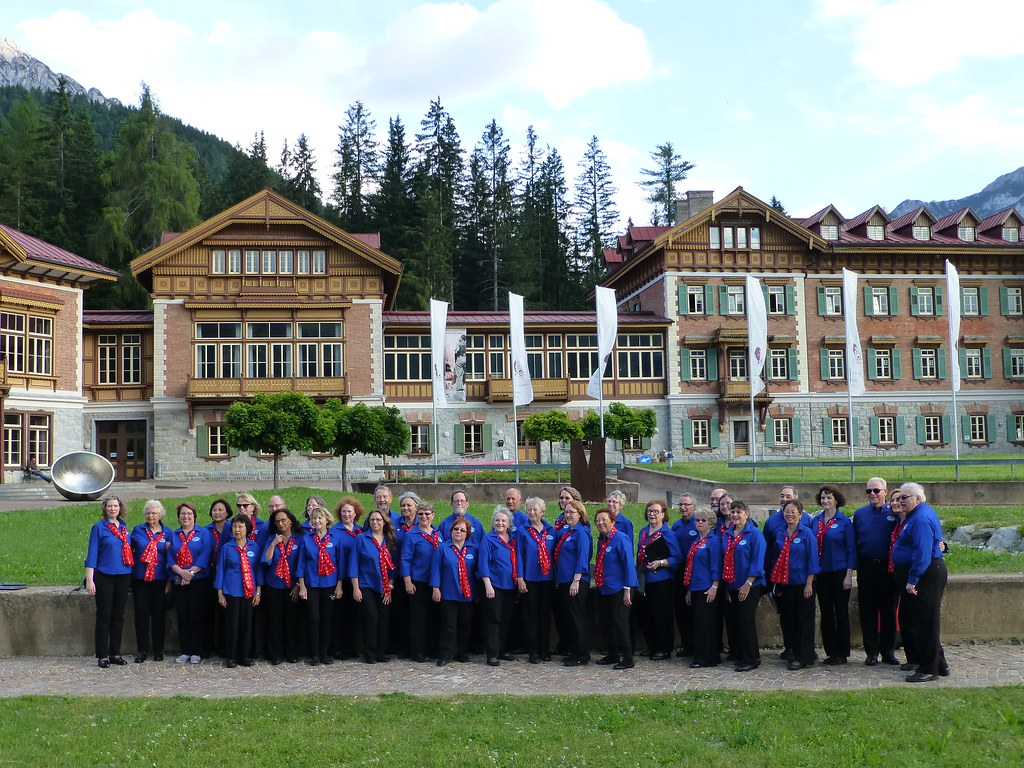 Sno-King Community Chorale at Gustav Mahler Hall in Dobbiaco as part of the Alta Pusteria International Choral Festival