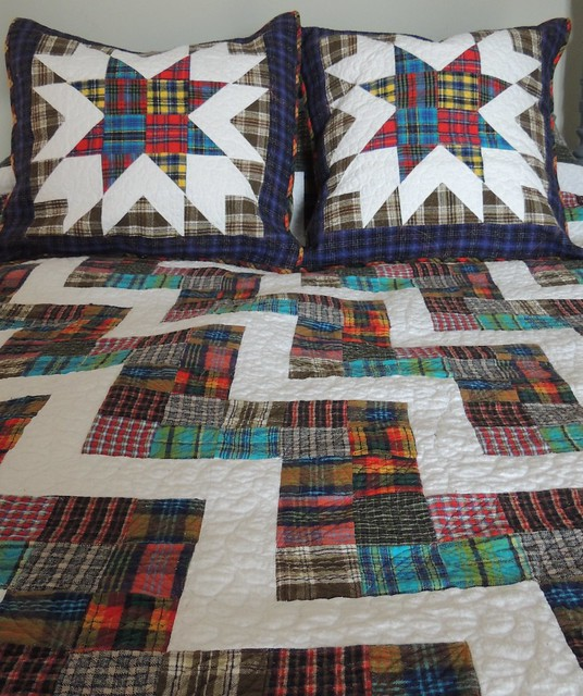 Two big, soft, flannel pillow covers