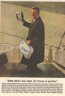 1961 Air France Advertisement with John Wayne Saturday Evening Post March 18 1961
