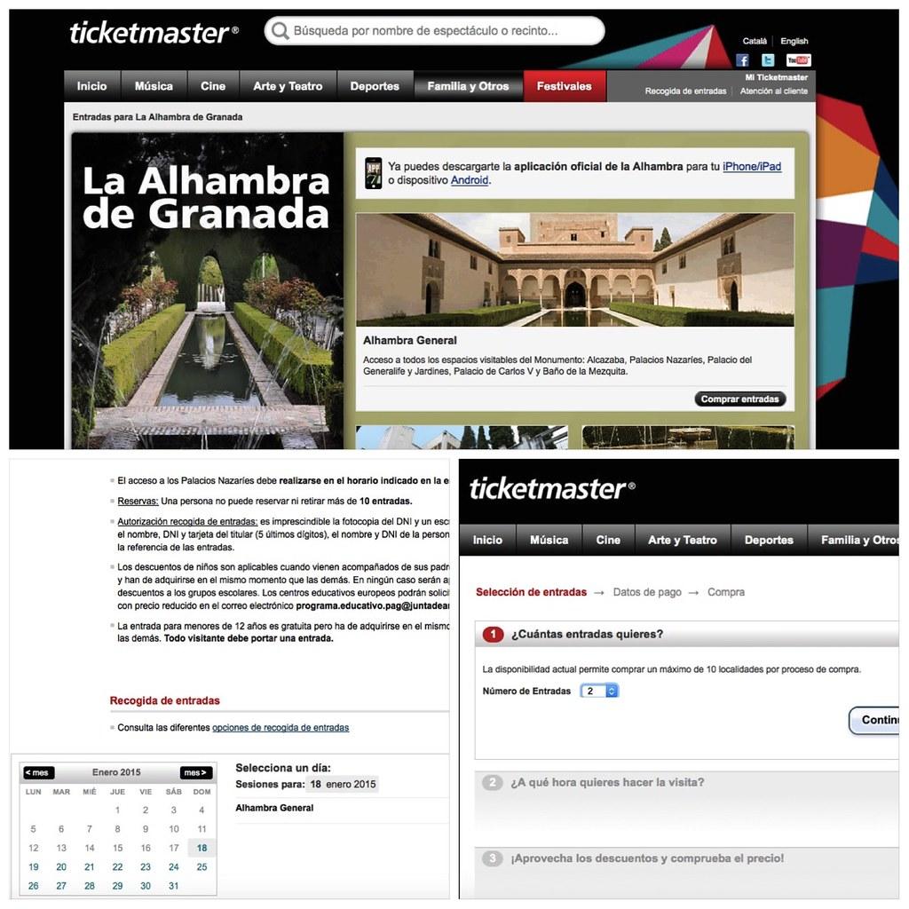 Entradas a la Alhambra