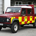 Wildfire Land Rover (Photo Andy Daley)